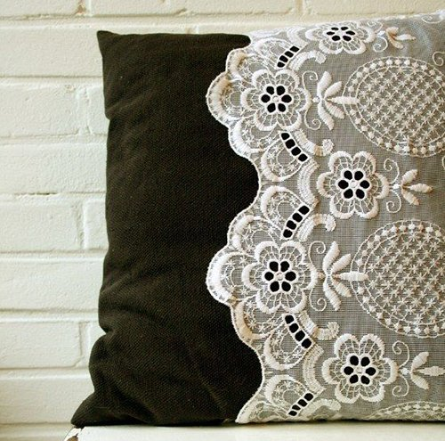 Add lace to toys or pillows