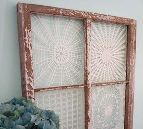 Wood frame decorated with Lace