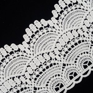 White Lace Trim Wide Wave Pattern 1