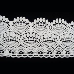 White Lace Trim Wide Wave Pattern