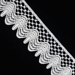 White Vintage Gothic Lace Trim 1