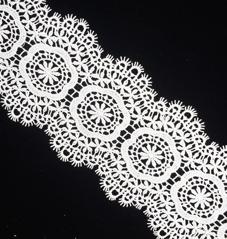 858c1cc9795ea Fringe Floral Center White Lace Ribbon