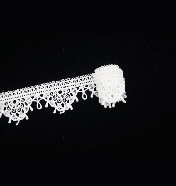 Fringe Venice White Lace Trim 3
