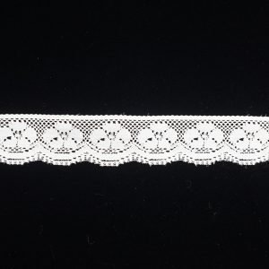 White Embroidered Lace Ribbon Small Floral Band
