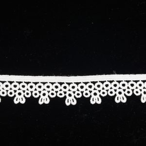 White Lace Trim Single Sided Floral 1