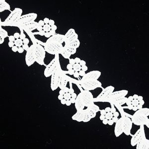 White Lace with Tulip Pattern 1
