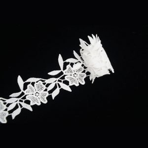White Leaf And Flower Pattern