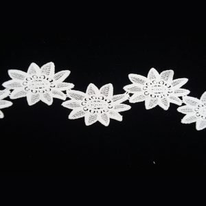 White Sunflower Floral Pattern