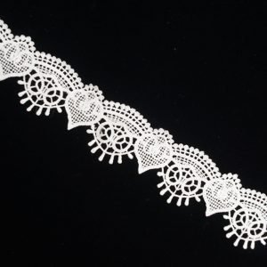 White Vintage Wish Pattern Lace Ribbon Trim 1