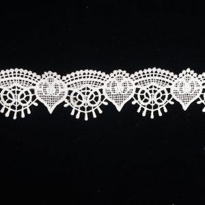 White Vintage Wish Pattern Lace Ribbon Trim