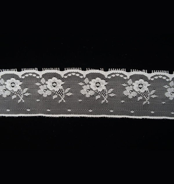 French Tulle Floral White Lace Ribbon 2