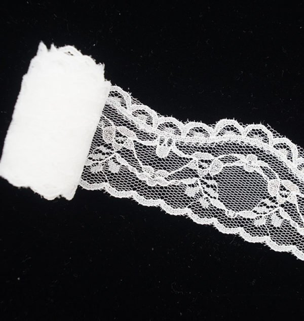 Tulle Crown Floral White Lace Trim