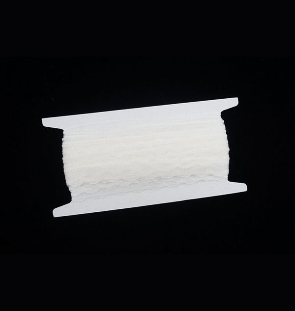 White Blank Simple Wave Lace Trim 3