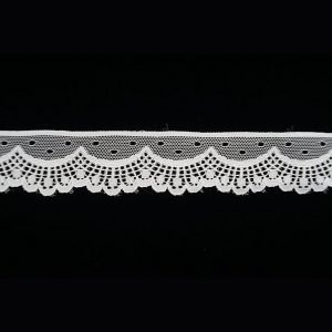 White Lace Trim Crown French Tulle Patten 1
