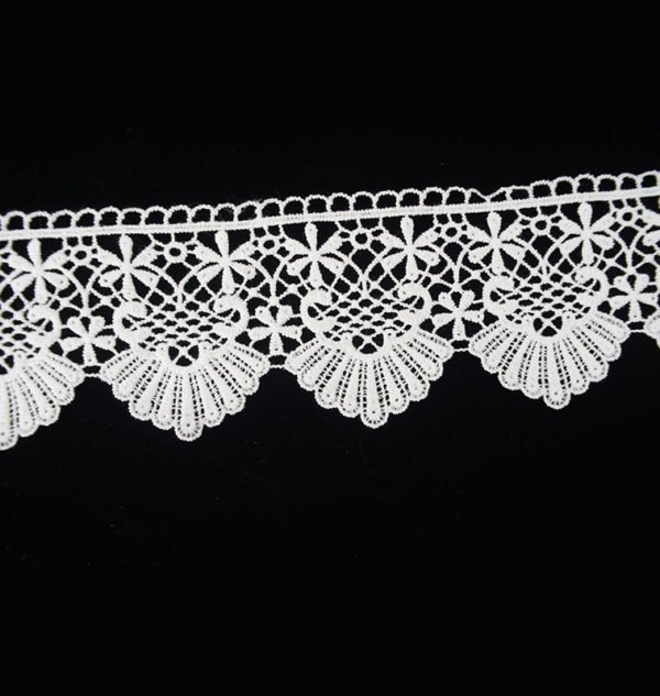 White Lace Trim Guipure Wide Floral 1