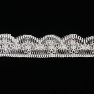 White Lace Trim Tulle Guipure Totem 1