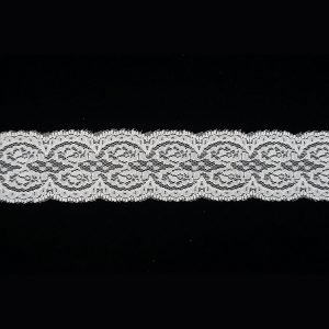 White Lace Trim Tulle Symmetric Cloud Pattern 1