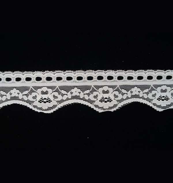 White Lace Trim Wave Flower Band 1