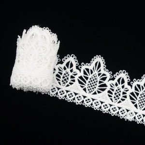 White Pine Tree Pattern Lace Ribbon