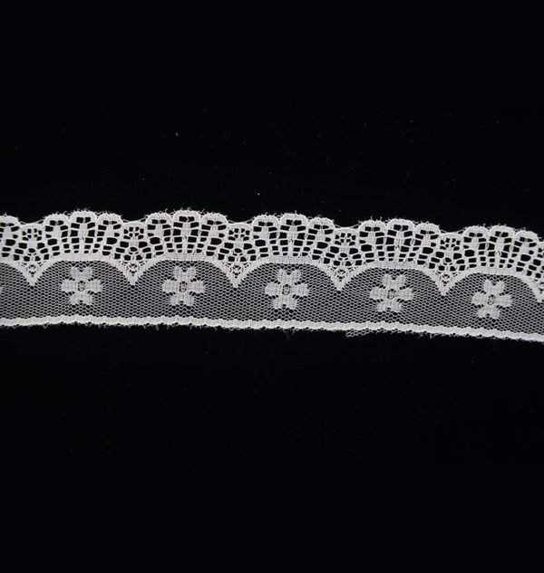 White Tulle Arrow Flower Lace Trim 1