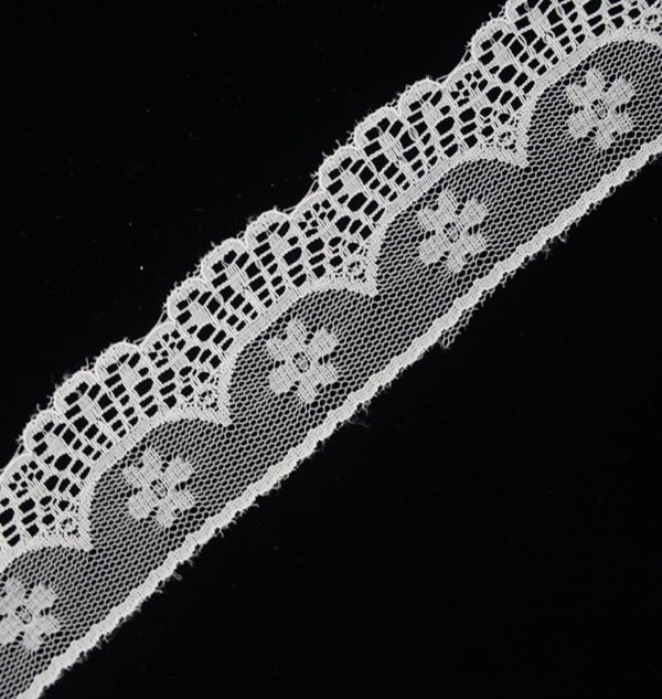 White Tulle Arrow Flower Lace Trim 2