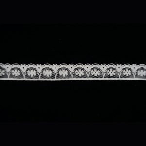 White Tulle Lac Trim Small Floral Band 1