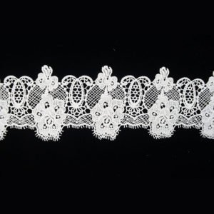 White Wide Guipure Lace Ribbon 3