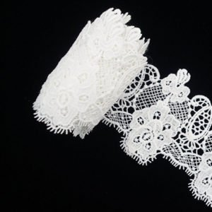 White Wide Guipure Lace Ribbon