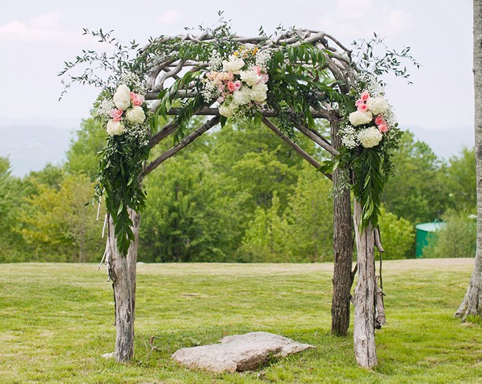 Willow and Silk Flower Arch