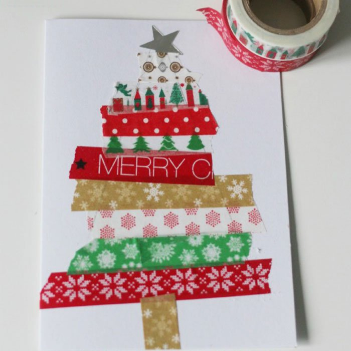 Family Washi Tape Card Tree
