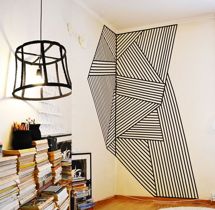 Geometric Washi Tape Wall Art