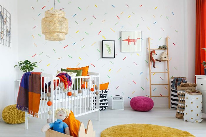 Oversized Confetti Mural with Washi Tape