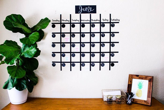 Washi Tape Calendar Wall Art