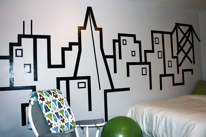 Washi Tape Headboard Wall Designs
