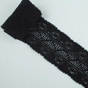 Black Cotton Lace Trim