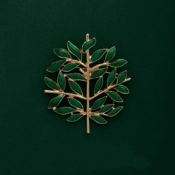green leaves brooches