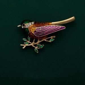 robin brooches