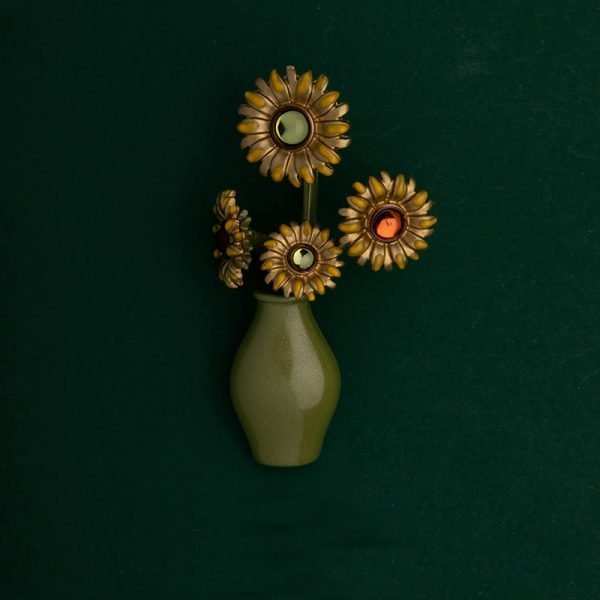 sunflower brooches