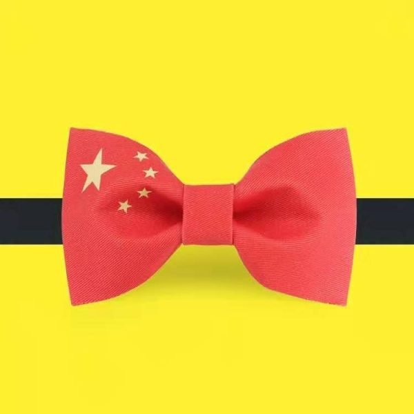 Chinese Flag Bowtie