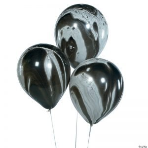 black marble balloon