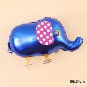 blue elephant walking balloon