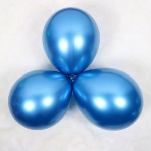Blue Latex Metallic Balloon