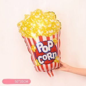 "Movie Popcorn 38"" Large mylar shape balloon."
